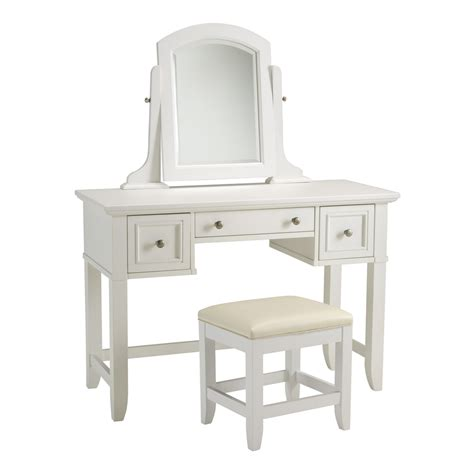 White Bench With Storage by Shop Home Styles Naples White Makeup Vanity At Lowes Com