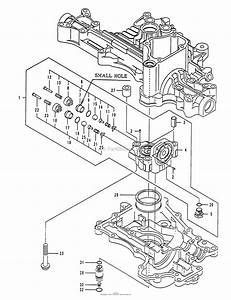 Husqvarna Tuff Torq K55j Transaxle Parts Diagram For Center Case Assy