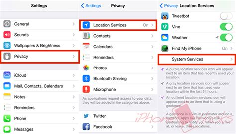 how to turn on location on iphone 5 how to disable frequent locations tracking on iphone