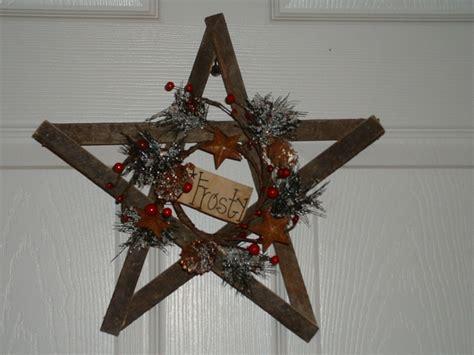 primitive holiday tobacco lathe star   etsy