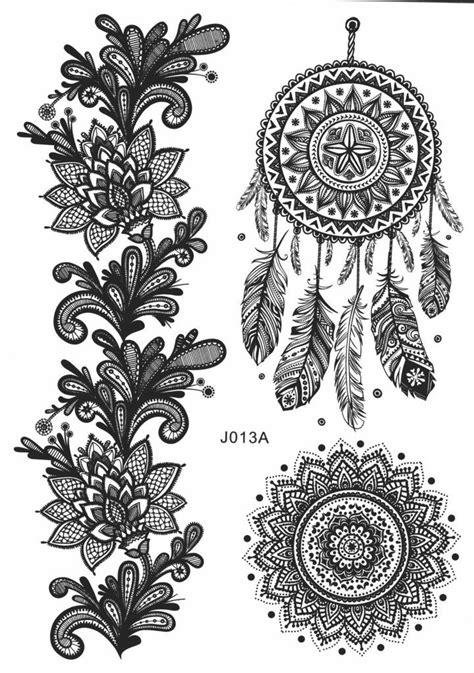 Nowa Dreamcatcher & Mandala Temporary Tattoo | Tattoo Ideas | Tattoos, Mandala tattoo et Lace tattoo