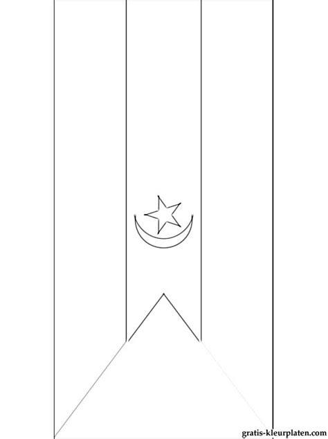Arabische Kleurplaten by Kleurplaat Vlag De Arabische Democratische Republiek