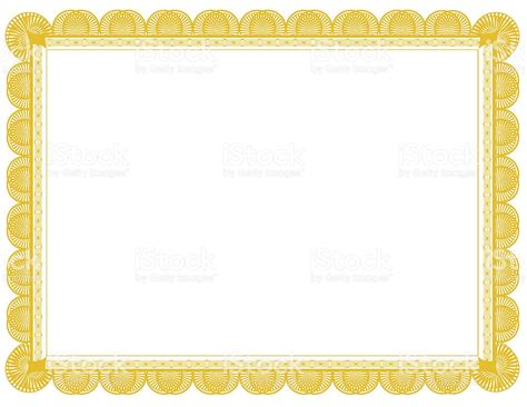 yellow certificat border templates ms word docfile blank