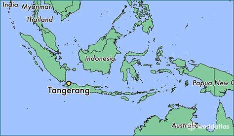 tangerang indonesia tangerang banten map