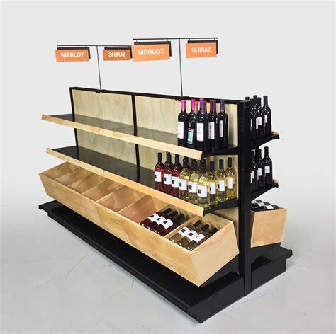 Wine Displays For Liquor Stores Island Fixture Kit 54h X