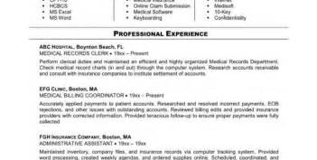 medical billing and coding resume sample medical billing