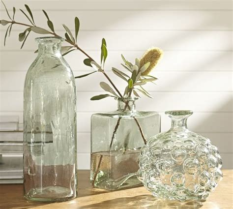 canela recycled glass vases pottery barn