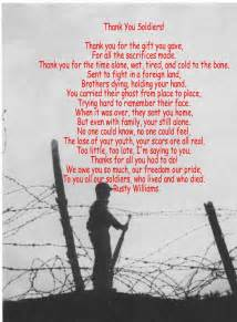 Thank You Soldier Poems