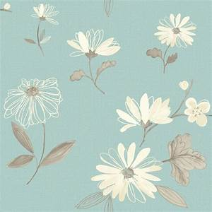 Arthouse Eco Charnwood Duck Egg Floral Wallpaper ...