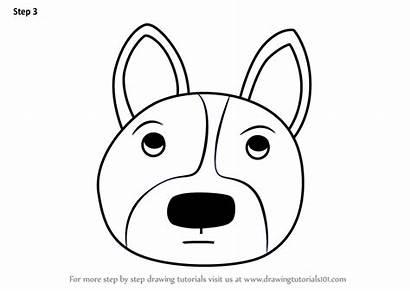 Draw Dog Face Corgi Welsh Drawing Step