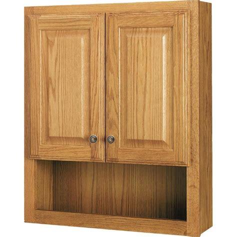 oak bathroom wall cabinets shop style selections 23 25 in w x 28 in h x 7 in d oak