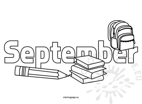 Coloring Pages Kids September