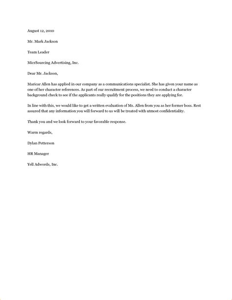 3 sle character reference letter academic resume