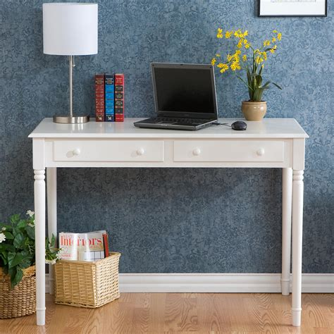 Small Writing Desks With Drawers by Sei 2 Drawer Wood Writing Desk Crisp White