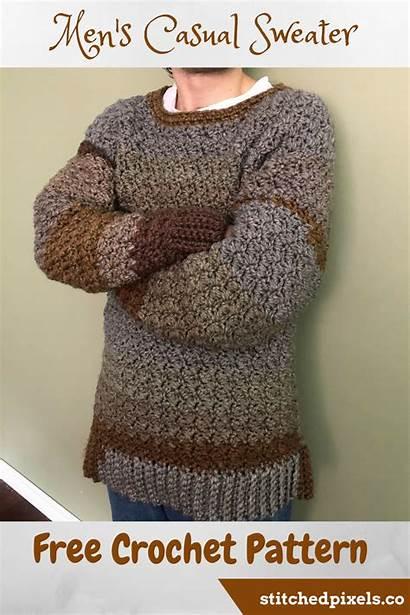 Sweater Crochet Patterns Pattern Casual Stitchedpixels Perfect