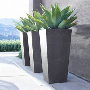 Contemporary Precast Stone Planters By