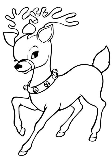 disegni  renne  babbo natale da colorare
