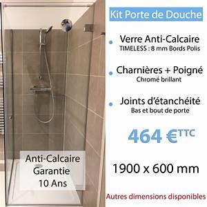 Paroi De Douche Miroir : kit porte de douche en verre anti calcaire ~ Dailycaller-alerts.com Idées de Décoration