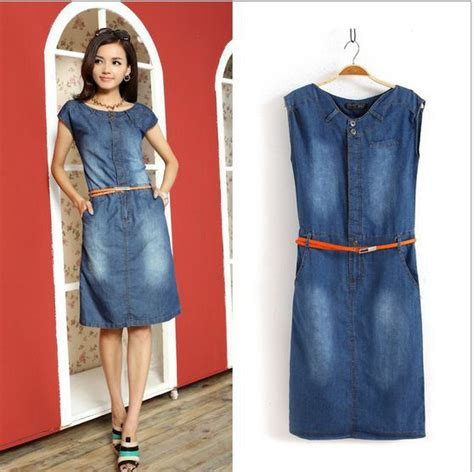 free shipping new fashion denim vintage cute dress high