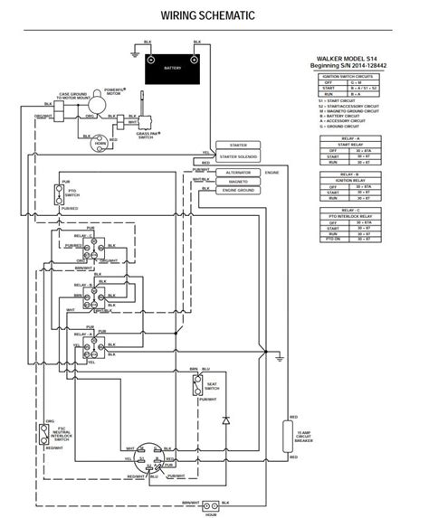 Walker Mower Wiring Schematic by Walker Ms 2014 Wiring Schematic Propartsdirect