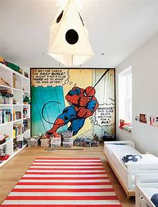 Kids Bedroom Design With Spiderman Themes