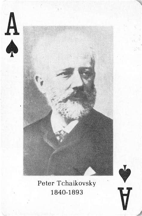 Peter Tchaikovsky gaming playing card Classical Composers ...