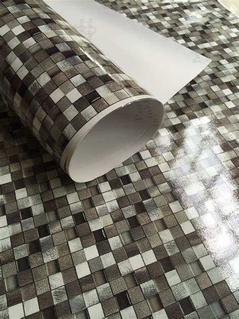 Peel And Stick Tile Decals by Peel And Stick Mosaic Tile Vinyl Wallpaper Waterproof