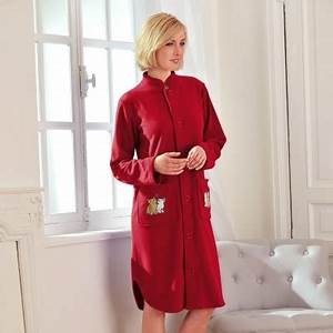 blancheporte peignoir maille polaire poches brodees With robe de chambre maille polaire femme