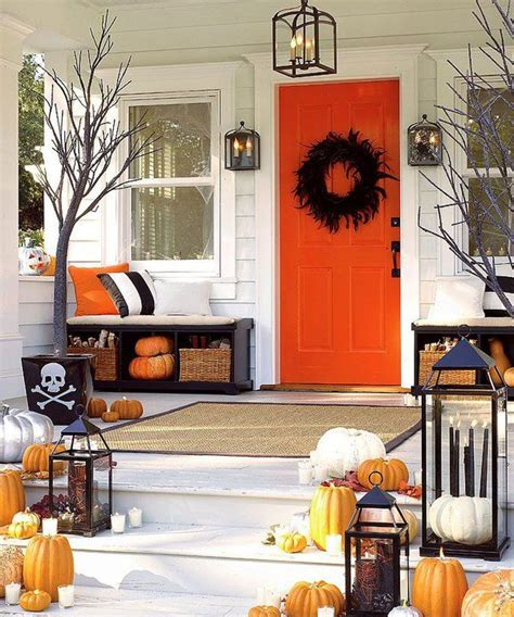 front porch halloween decor halloweeeeen pinterest