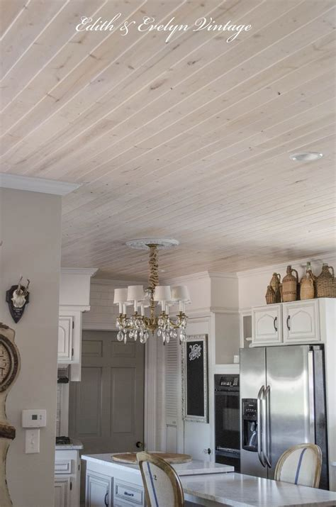 plank  popcorn ceiling  easy   wood