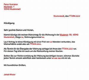 Wohnung Kündigen Vorlage : mietvertrag k ndigen kostenlose vorlage ~ Eleganceandgraceweddings.com Haus und Dekorationen