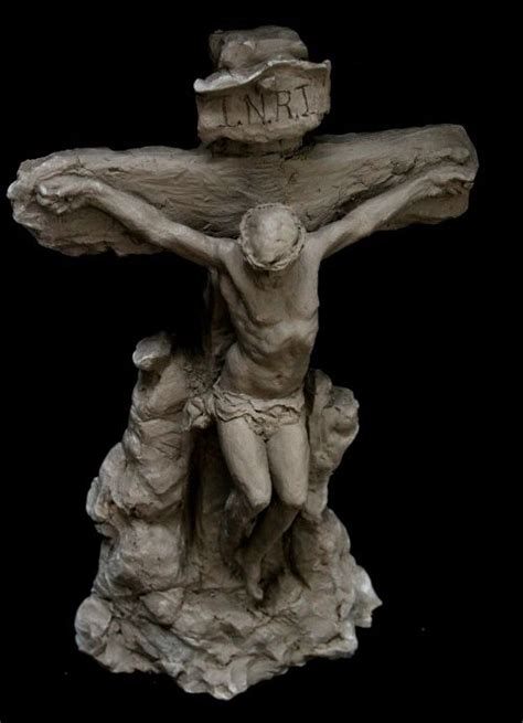 hand crafted crucifixion sculpture   tall crucifix