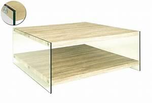 Table Basse Chene Clair : table basse nina en verre et chene clair ~ Teatrodelosmanantiales.com Idées de Décoration