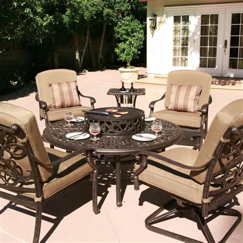 patio furniture pit set fireplace design ideas