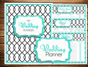 instant wedding planner printable by