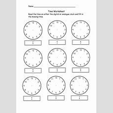 Blank Clock Worksheet Telling Time  Kiddo Shelter  Education  Pinterest  Clock Worksheets