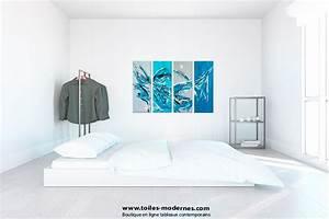 tableau quadriptyque moderne bleu rectangle grand format With couleur moderne pour salon 11 tableau moderne grand format gris
