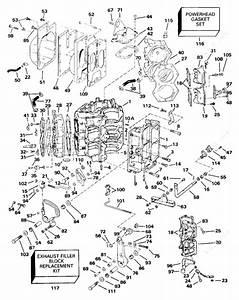 Evinrude 1991 90 - E90tleie  Cylinder  U0026 Crankcase