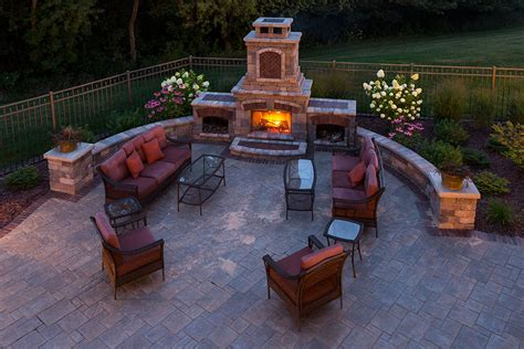 Outdoor Fireplace Landscaping Design In Appleton, Wi