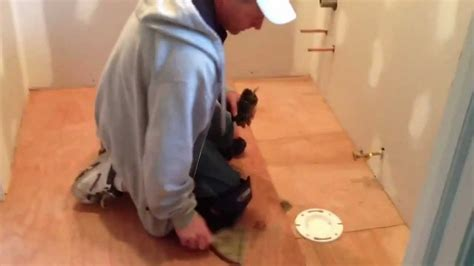 How To Install Vinyl Flooring In A Bathroom   YouTube