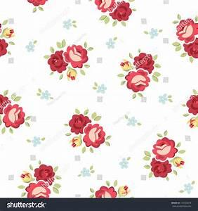 Seamless Shabby Chic Inspired Rose Pattern Stock Vector ...