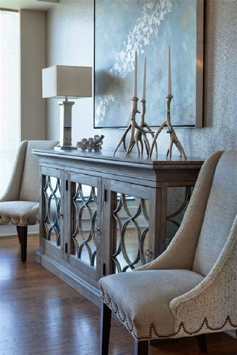 dining room side table buffet mirrored buffet transitional entrance foyer