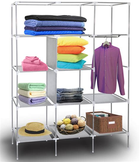 Portable Closet Rack by 69 Quot Portable Closet Storage Organizer Clothes Wardrobe