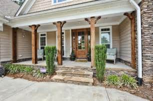 Stone and Wood Porch Columns