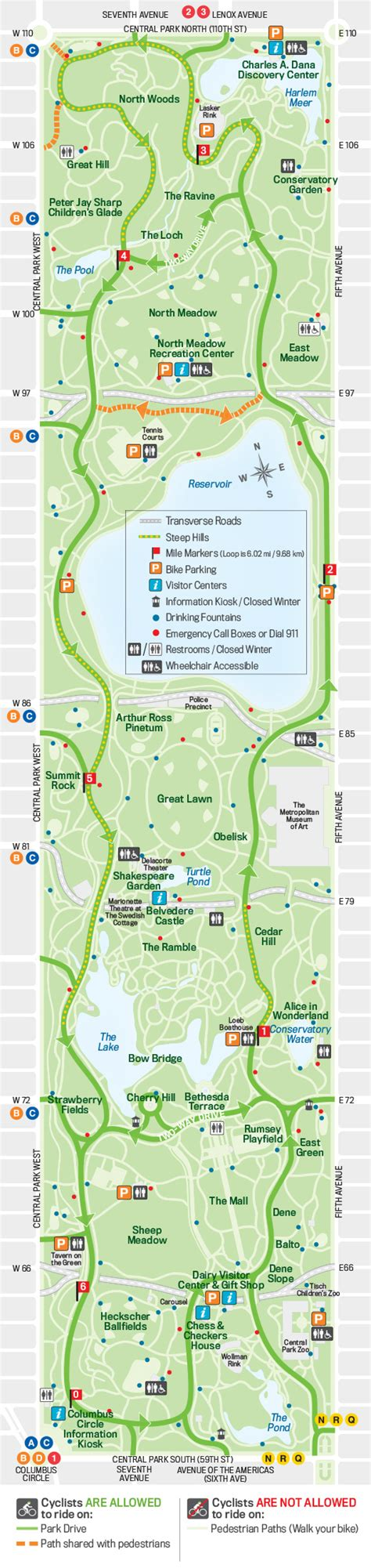 Bathroom Zone Map by Interactive Central Park Map The Official Website Of