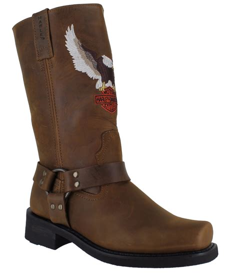 mens brown motorcycle boots harley davidson darren mens brown motorcycle riding eagle
