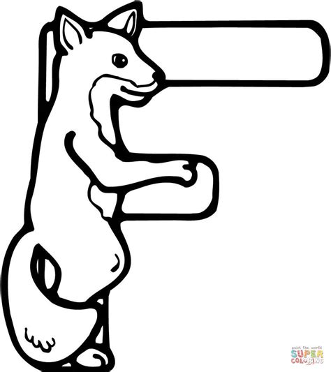 Coloring Letter F by Letter F Is For Fox Coloring Page Free Printable