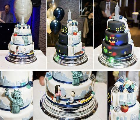 split personality cakes gotham city wedding cake