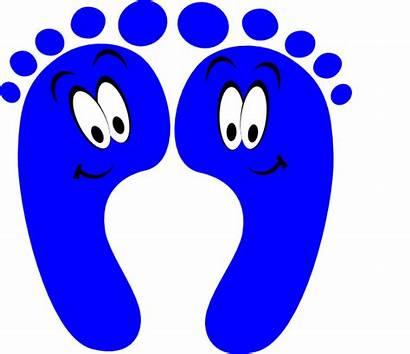 Feet Clip Walking Clipart Foot Happy Pedicure