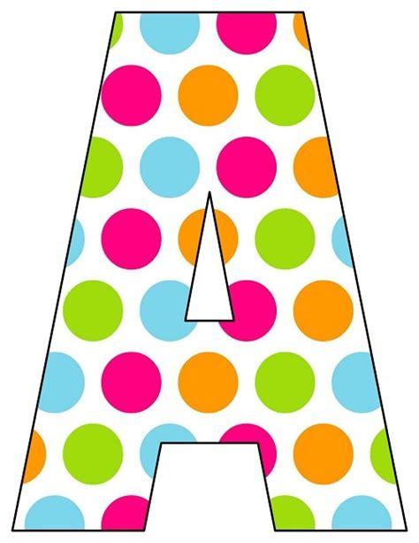 rainbow big polka dot printable letters